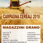 manifesti grano 2018 con Magazzini di stoccaggio